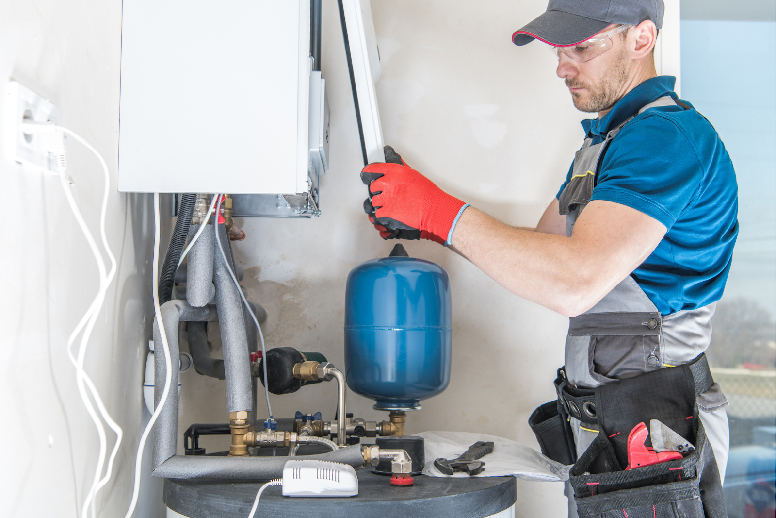 New Tankless Water Heater being installed in Modesto
